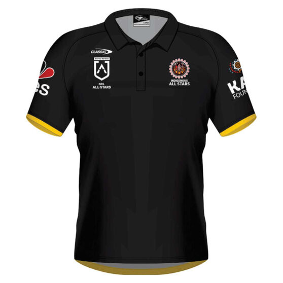 NRL Indigenous All Stars Mens 2021 Polo, Black, rebel_hi-res