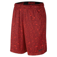 Nike Mens Dri-FIT Woven 9in Training Shorts Red M, Red, rebel_hi-res