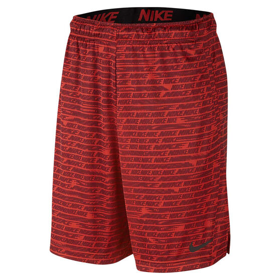 Nike Mens Dri-FIT Woven 9in Training Shorts, Red, rebel_hi-res