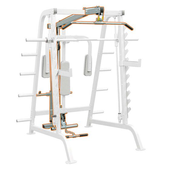 Impulse Fitness Half Cage Lat Attachment, , rebel_hi-res