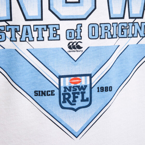 NSW Blues State of Origin 2020 Mens Whatever It Takes Tee, White, rebel_hi-res