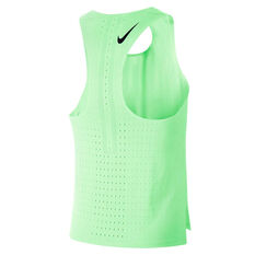 Nike Mens AeroSwift Tank Green XS, Green, rebel_hi-res