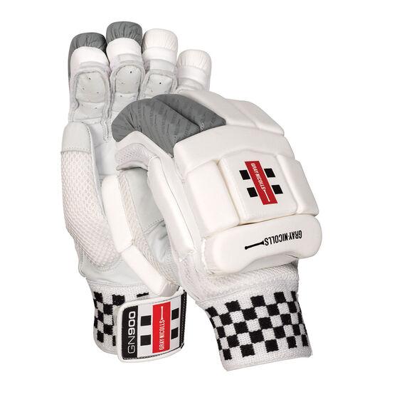 Gray Nicolls GN 900 Cricket Batting Gloves Silver Right Hand, Silver, rebel_hi-res