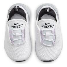Nike Air Max 270 Toddlers Casual Shoes, White/Purple, rebel_hi-res