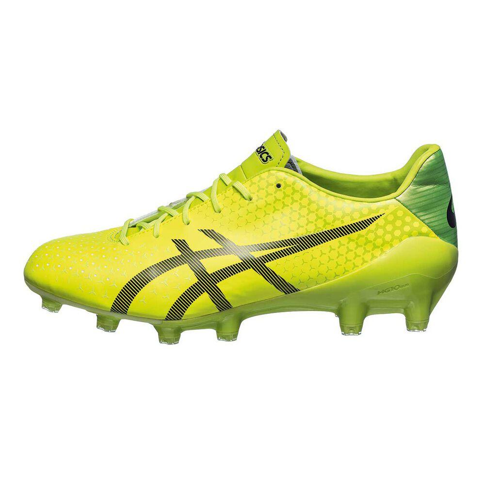 Asics GEL Menace Mens Football Boots Yellow   Black US 8 Adult ... cc0c15369039