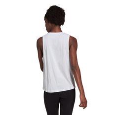 adidas Womens Essentials Big Logo Tank White XS, White, rebel_hi-res