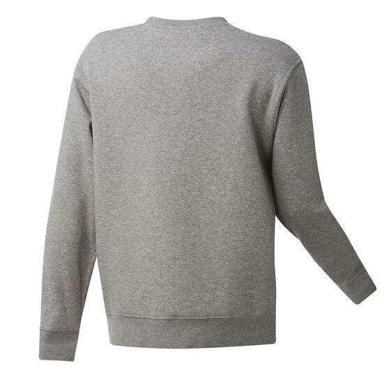 Los Angeles Clippers Mens Fleece Crew Sweatshirt, Grey, rebel_hi-res