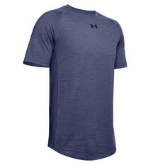 Under Armour Mens Charged Cotton Tee Blue XS, Blue, rebel_hi-res