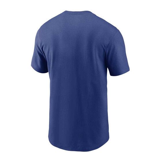 New York Giants 2020 Mens Logo Essential Tee, Blue, rebel_hi-res