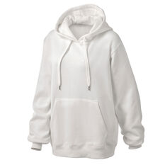 Running Bare Womens Legacy Pullover Hoodie White XS, White, rebel_hi-res