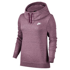 Nike Womens Sportswear Funnel Neck Hoodie Purple XS, Purple, rebel_hi-res