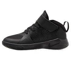 Nike Team Hustle D 9 Kids Basketball Shoes Black 11, Black, rebel_hi-res