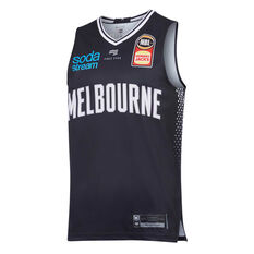 Melbourne United 2019/20 Mens Home Jersey Navy S, Navy, rebel_hi-res