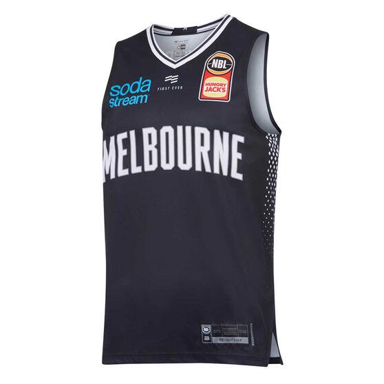 Melbourne United 2019/20 Mens Home Jersey, Navy, rebel_hi-res