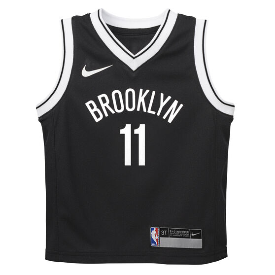 Nike Brooklyn Nets Kyrie Irving 2019/20 Infant Icon Edition Swingman Jersey, Black, rebel_hi-res