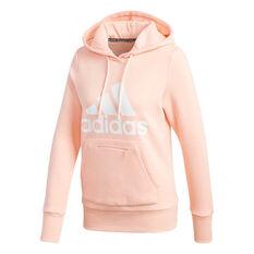 adidas Womens Badge Of Sport Hoodie Coral XS, Coral, rebel_hi-res