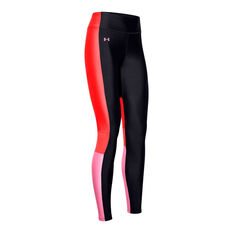 Under Armour Womens Perf Inset Graphic Leggings Multi XS, Multi, rebel_hi-res