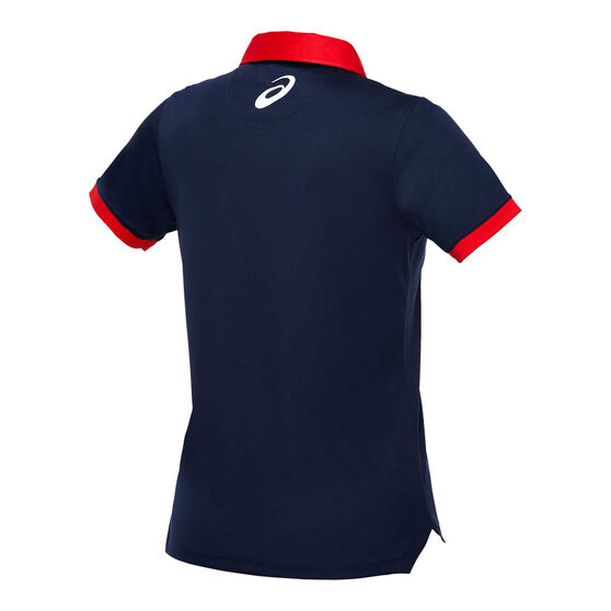 Western Bulldogs 2020 Womens Media Polo, Navy, rebel_hi-res