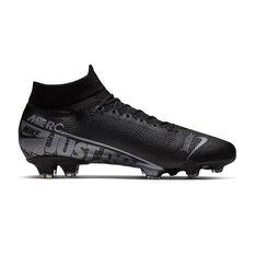 Nike Mercurial Superfly VII Pro Football Boots Black / Grey US Mens 7 / Womens 8.5, Black / Grey, rebel_hi-res