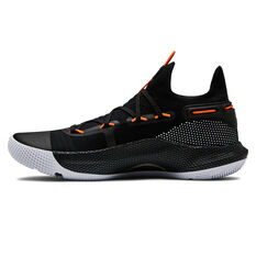 Under Armour Curry 6 Mens Basketball Shoes Black / White US 7, Black / White, rebel_hi-res