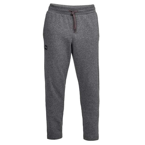 Under Armour Mens Rival Fleece Pants Grey S, Grey, rebel_hi-res