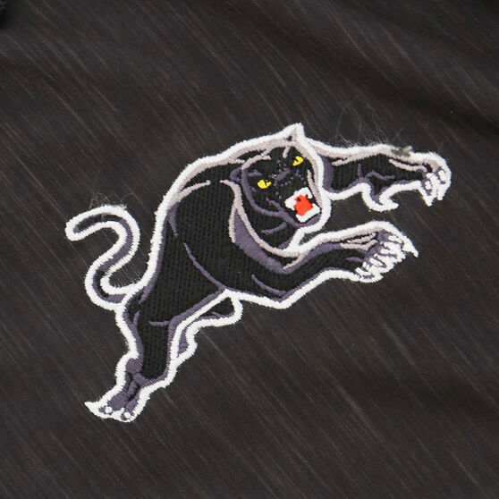 Penrith Panthers 2021 Mens Media Polo, Black, rebel_hi-res