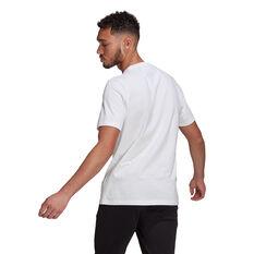 adidas Essentials Mens Big Logo Tee White S, White, rebel_hi-res