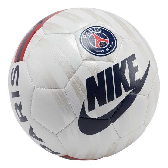 Nike Paris Saint Germain Prestige Soccer Ball, White / Silver, rebel_hi-res