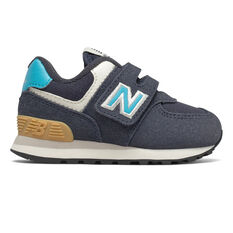 New Balance 574 Toddlers Shoes Navy US 6, Navy, rebel_hi-res