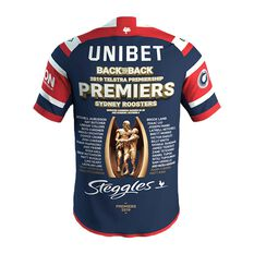 Sydney Roosters 2019 Mens Premiers Jersey Blue / Red S, Blue / Red, rebel_hi-res