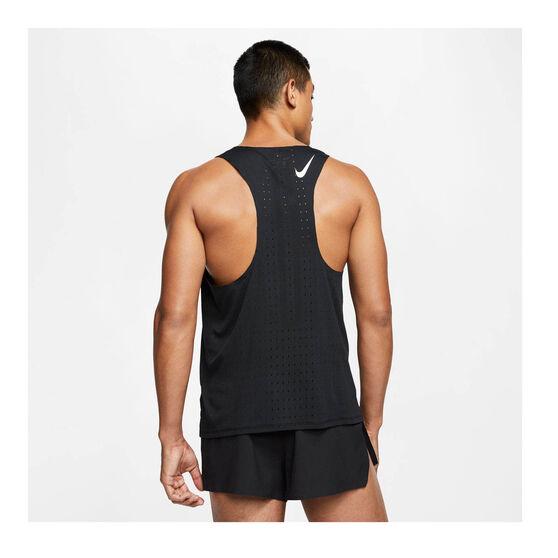 Nike Mens AeroSwift Running Singlet, Black, rebel_hi-res
