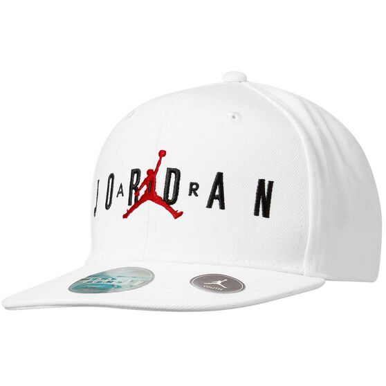 Nike Boys Air Jordan Jumpman Cap White / Black OSFA, White / Black, rebel_hi-res