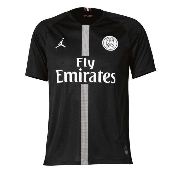 72b13d0381b Paris Saint Germain FC 2018 19 Air Jordan Mens 3rd Jersey Black S ...