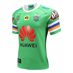 Canberra Raiders 2020 Mens Home Jersey Green S, Green, rebel_hi-res