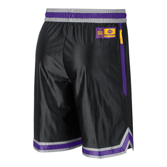 Los Angeles Lakers Mens Chrome Shorts, Black, rebel_hi-res