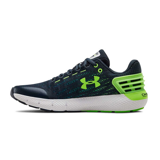 Under Armour Charged Rogue Kids Running Shoes, Green, rebel_hi-res