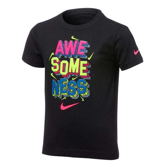 Nike Boys Awesomeness Tee, Black, rebel_hi-res