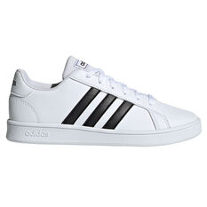adidas Grand Court Kids Casual Shoes White/Black US 11, White/Black, rebel_hi-res