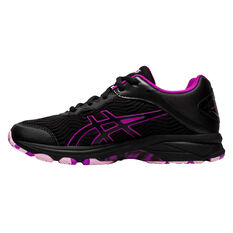 Asics GEL Netburner Professional 2 Girls Netball Shoes Black / Purple US 1, Black / Purple, rebel_hi-res