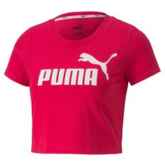 Puma Womens Essential Fitted Tee Pink XS, Pink, rebel_hi-res