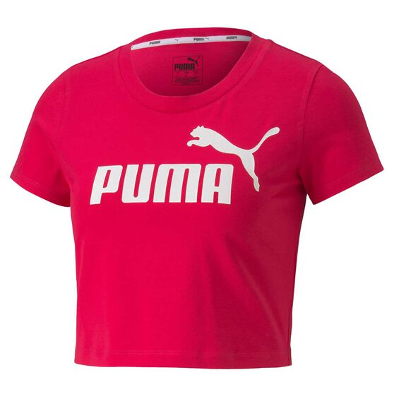 Puma Womens Essential Fitted Tee, Pink, rebel_hi-res