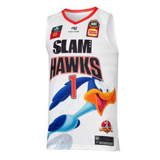 Illawarra Hawks 2019/20 Kids Looney Tunes LaMelo Ball Jersey White 6, White, rebel_hi-res
