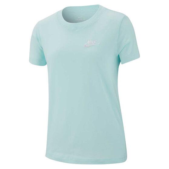Nike Girls Sportswear Embossed Tee Teal XS, Teal, rebel_hi-res