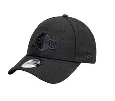 LA Lakers New Era Black on Black 9FORTY Snapback, , rebel_hi-res