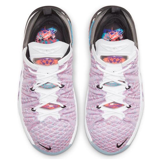 Nike LeBron XVIII Kids Basketball Shoes, Purple, rebel_hi-res