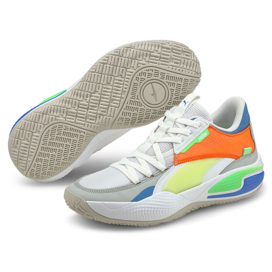 Puma Court Rider Twofold Basketball Shoes, White, rebel_hi-res