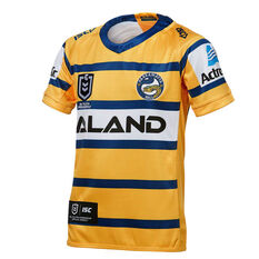 Parramatta Eels 2019 Kids Away Jersey Yellow / Blue 8, Yellow / Blue, rebel_hi-res