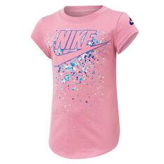 Nike Girls Futura Waterfall Tee Pink 4, Pink, rebel_hi-res