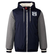 Geelong Cats Mens Sideline Jacket Blue S, Blue, rebel_hi-res