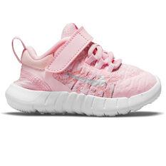Nike Free RN 2021 Toddlers Shoes Pink/White US 2, Pink/White, rebel_hi-res